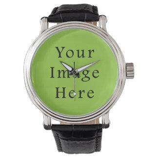Plantilla ligera del espacio en blanco de la reloj de mano