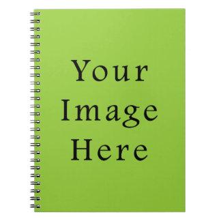 Plantilla ligera del espacio en blanco de la tende libro de apuntes con espiral