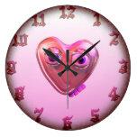 Plantilla loca del reloj del amor