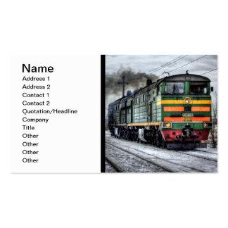 Plantilla locomotora de la tarjeta de visita del