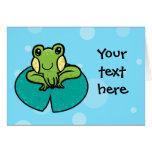 plantilla manchada de la tarjeta de la rana del ve