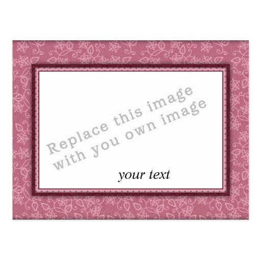 Plantilla - marco rosado postal