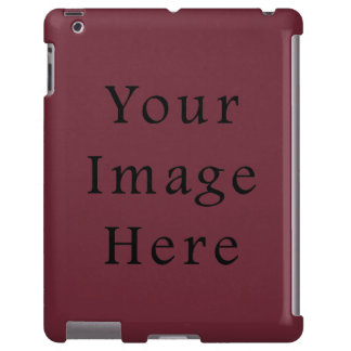 Plantilla marrón del espacio en blanco de la tende funda para iPad
