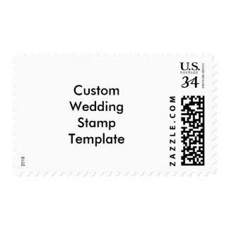 Plantilla media del sello del boda de encargo