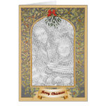 Plantilla medieval del navidad tarjeta de felicitación