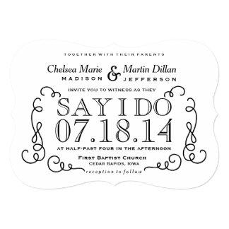 Plantilla moderna de la invitación del boda de la invitación 12,7 x 17,8 cm