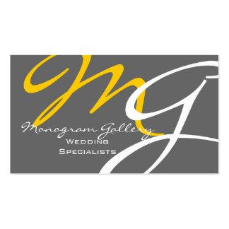 Plantilla moderna gris amarilla de la tarjeta de tarjetas de visita