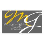 Plantilla moderna gris amarilla de la tarjeta de v tarjetas personales