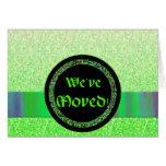Plantilla móvil de la invitación del medallón verd felicitaciones