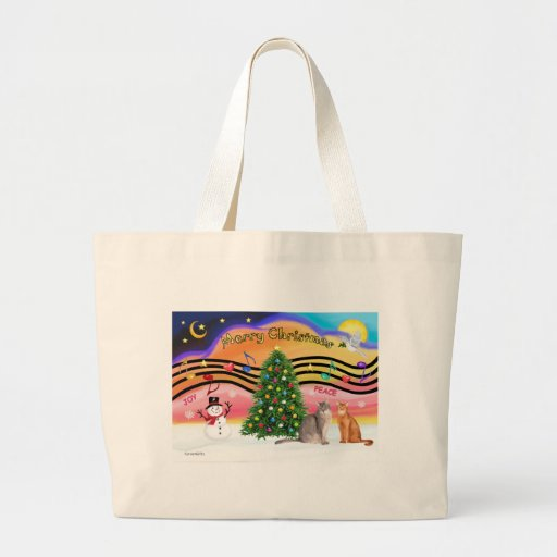 PLANTILLA - música 2 de Navidad Bolsa