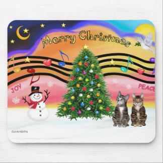 PLANTILLA - música 2 de Navidad Tapete De Ratón