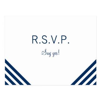 Plantilla náutica de la postal de RSVP que se casa
