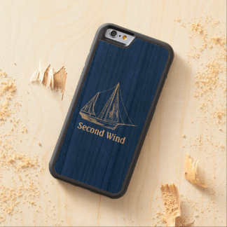 Plantilla náutica del nombre del velero de madera funda de iPhone 6 bumper cerezo