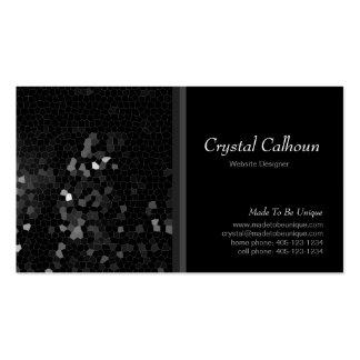 Plantilla negra abstracta de la tarjeta de visita