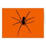 Plantilla negra de la araña felicitaciones
