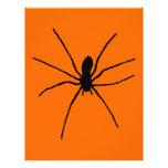 Plantilla negra de la araña flyer a todo color
