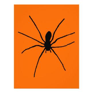 """Plantilla negra de la araña folleto 8.5"""" x 11"""""""