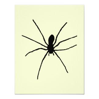 """Plantilla negra de la araña invitación 4.25"""" x 5.5"""""""