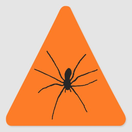 Plantilla negra de la araña calcomanías trianguladas personalizadas