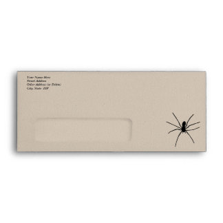 Plantilla negra de la araña
