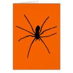 Plantilla negra de la araña tarjeta