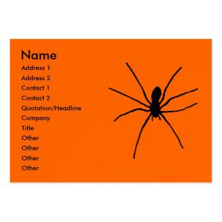 Plantilla negra de la araña tarjetas de visita grandes