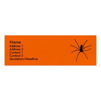Plantilla negra de la araña tarjetas de visita mini