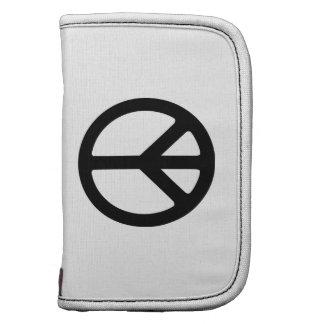 Plantilla negra del símbolo de paz planificador