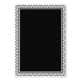 Plantilla negra elegante de la invitación