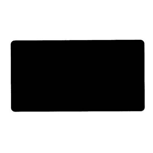 Plantilla negra pura del espacio en blanco de la t etiqueta de envío