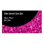 Plantilla negra rosada de la tarjeta de visita de