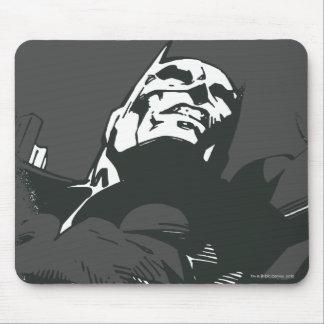 Plantilla negra y blanca de Batman de la pintada Alfombrillas De Ratón