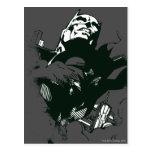 Plantilla negra y blanca de Batman de la pintada Postal