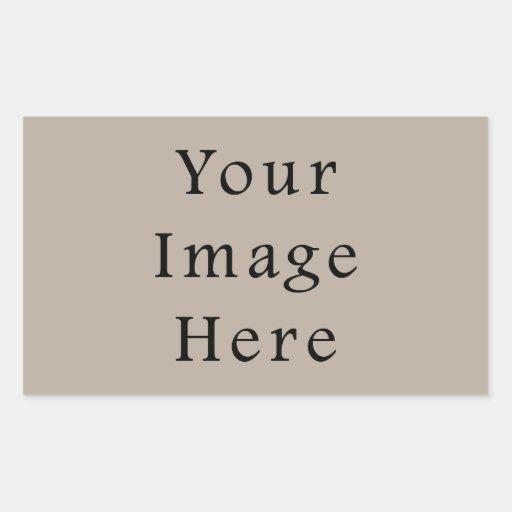 Plantilla neutral de color topo del espacio en pegatina rectangular