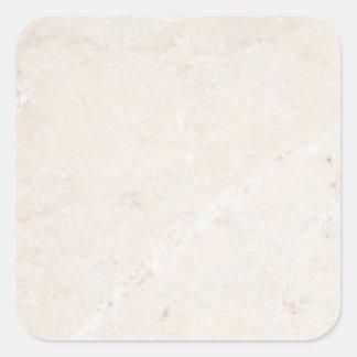 Plantilla neutral de piedra de mármol del fondo de pegatina cuadrada