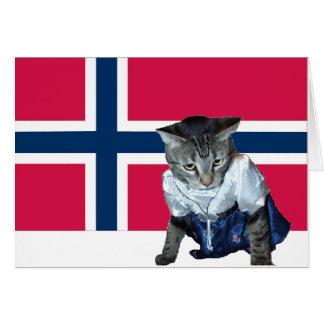 Plantilla noruega de la tarjeta del día de la cons