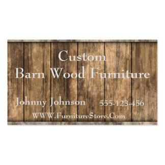 Plantilla occidental de madera del granero tarjetas de visita