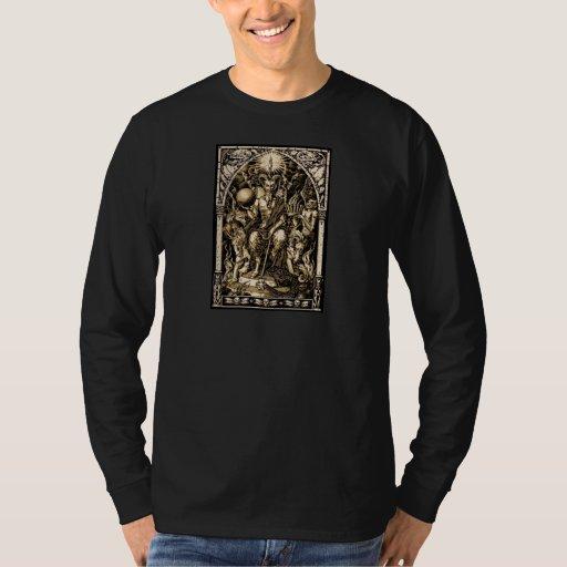 Plantilla oscura básica de la camiseta -
