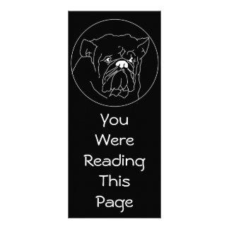 Plantilla oscura de la señal del dogo tarjetas publicitarias personalizadas