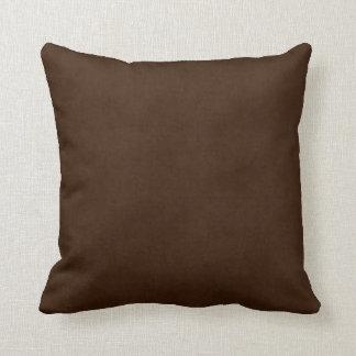 Plantilla oscura del pergamino de Brown del café Cojín