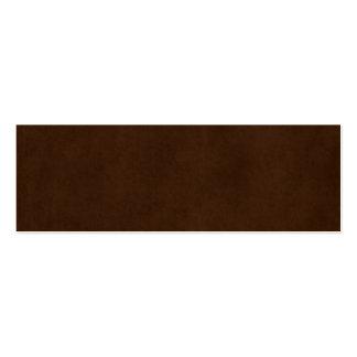 Plantilla oscura del pergamino de Brown del café e Tarjetas De Visita Mini