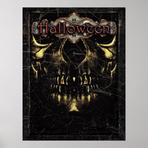Plantilla oscura del poster de Halloween