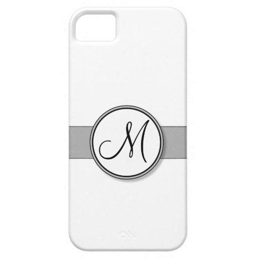 Plantilla partida del sello del monograma del iPhone 5 fundas