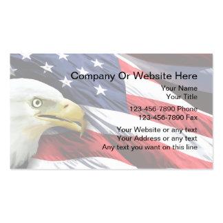 Plantilla patriótica de la tarjeta de visita