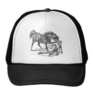 Plantilla penetrante viciosa enojada del caballo d gorro de camionero