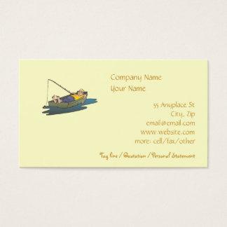 Plantilla perezosa de la tarjeta de visita de la