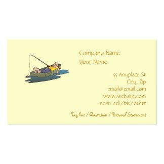 Plantilla perezosa de la tarjeta de visita de la p