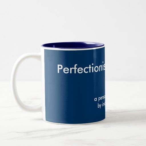 Plantilla perfeccionista de la taza de la foto