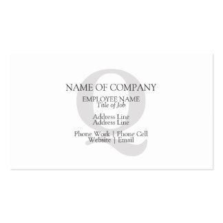 Plantilla personalizada con monograma de encargo tarjetas de visita