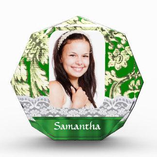 Plantilla personalizada cordón verde de la foto